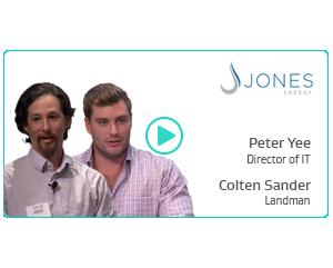 Peter Yee, Director of IT & Colten Sander, Landman at Jones Energy