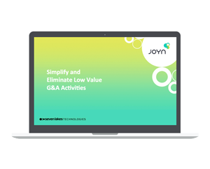 Simplify and Eliminate Low Value G&A Activities